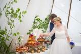 amazing cake at Cornish Tipi Weddings