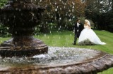Bride & Groom in Grounds