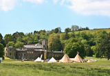 Festival-Style Tipis in front of the House